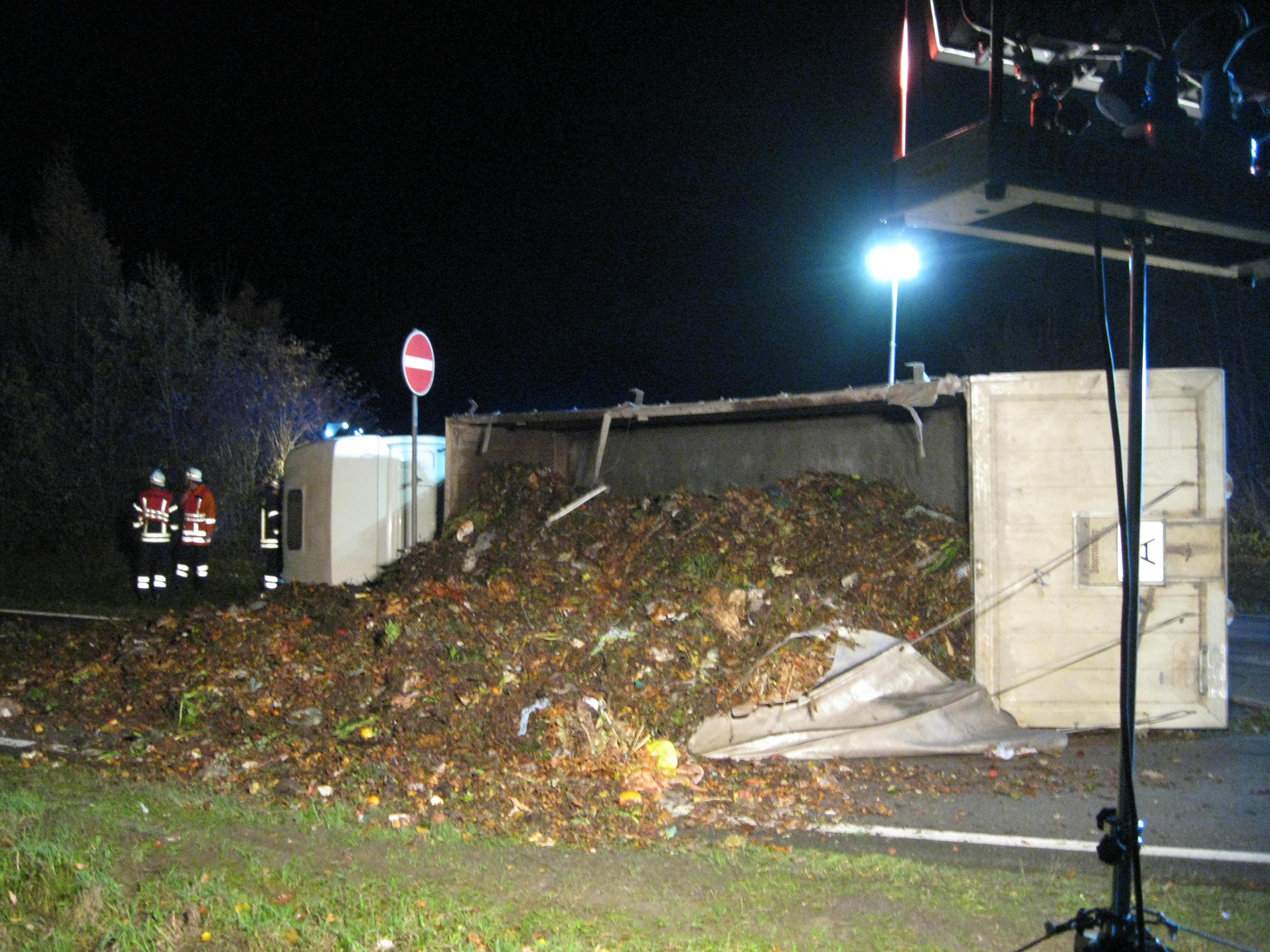 Umgestürzter LKW