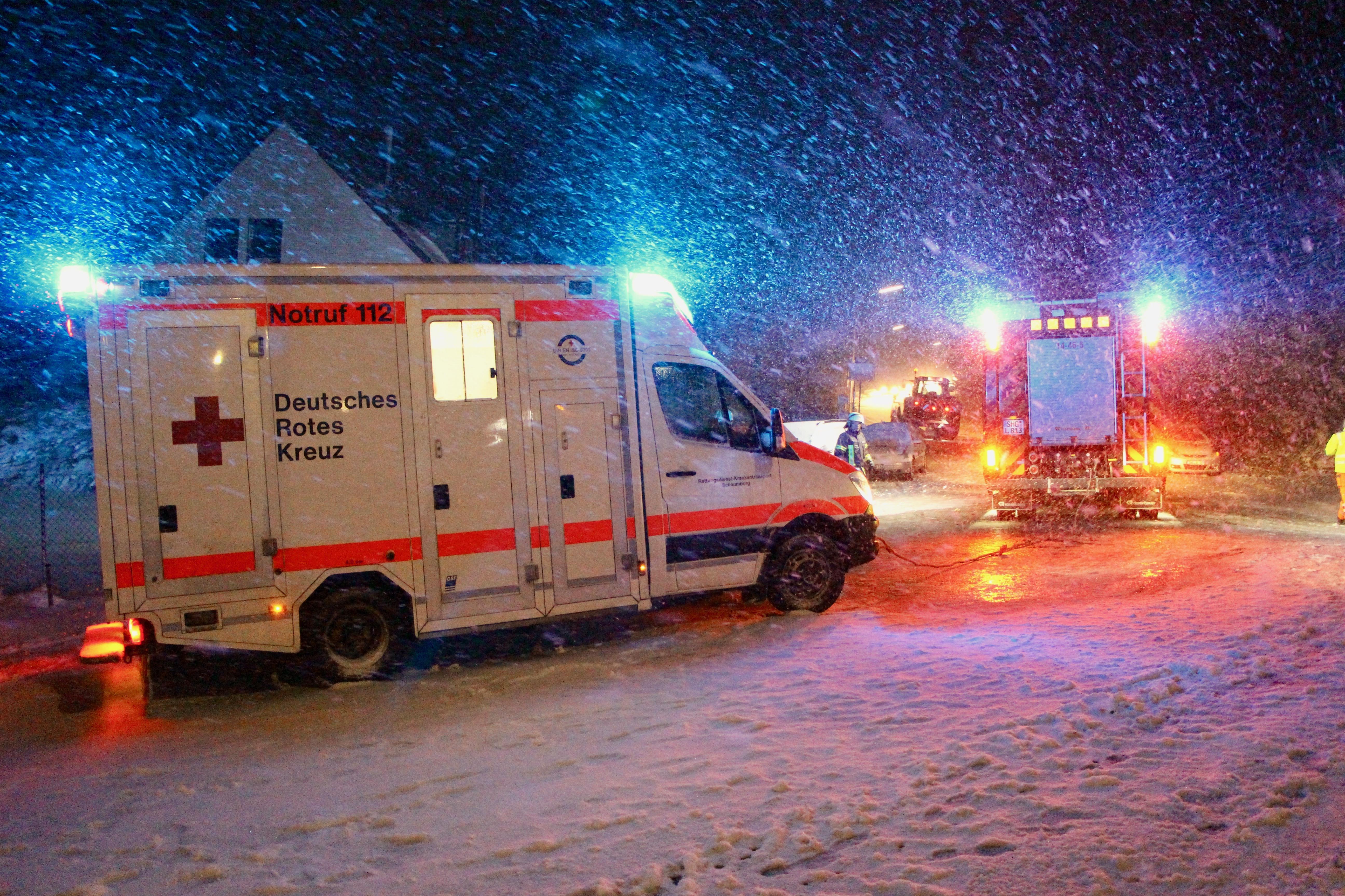 Rettungswagen in Not